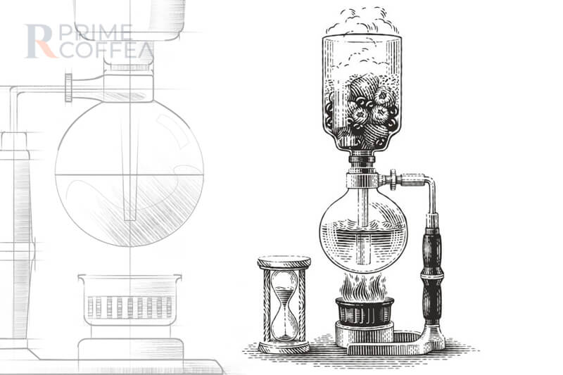 Những giai đoạn lịch sử của bình Siphon | Primecoffee
