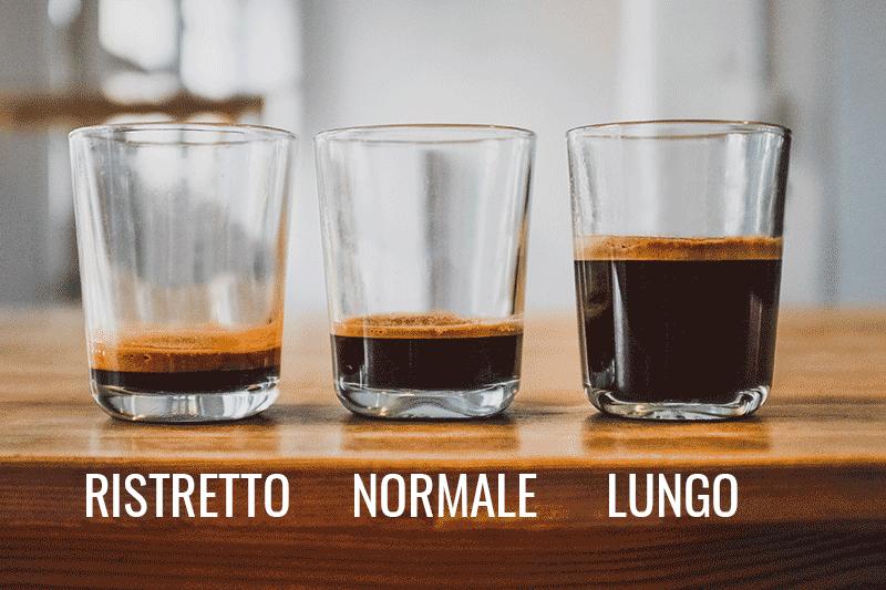 Ristretto, Normale và Lungo – Các tỷ lệ pha Espresso cơ bản